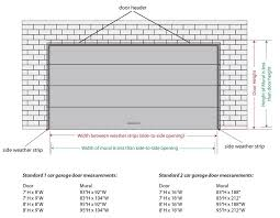 single garage door header size ideas