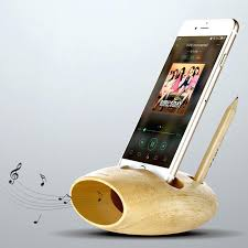 phone charging station cell phone charging dock natural wood docking station stand holder sound amplifier for phone charger station