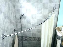 corner shower curtain rod for curved square croydex and rings co