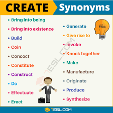 Design Synonym Create Synonym List Of 55 Useful Synonyms For Create 7 E S L