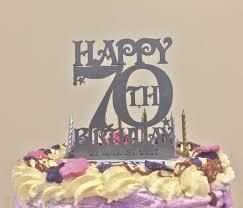 70th Birthday Cake Topper In Silver Acrylic Dezign Worx