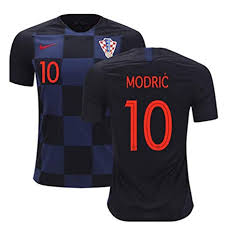 World com Croatian Outdoors Cup Modric Amazon Team Men's amp; National Brand Sports Jersey Viscustom Away 2018
