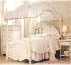 Bed Frame ~ Queen Size Canopy Bed White White Canopy Bed Full Twin ...