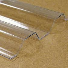 clear corrugated polycarbonate panel model number polysqclear50x14