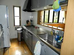 Stainless steel countertop come with small japanese kitchen ...
