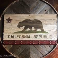 industrial california flag wall art