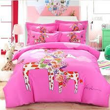 queen size kid bedding set animal giraffe horse elephant cartoon kids boys girls cotton king duvet queen size kid bedding