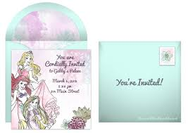 plan the perfect disney princess birthday party disney princess online invitation