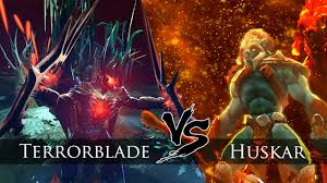 dota 2 terrorblade metamorphosis vs huskar one click battle