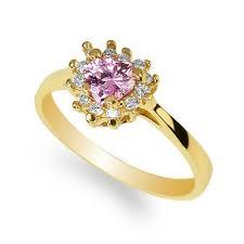Beautiful Halo Size Chart Yellow Gold Plated Heart Shaped Pink Tourmaline Cz Beautiful Halo Ring Size 4 10 Ebay