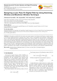 Matlab Code For Fir Filter Design Using Rectangular Window Pdf Designing A Low Pass Fir Digital Filter By Using