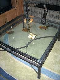wrought iron glass coffee table extremely nice and large beveled glass wrought iron coffee table wrought
