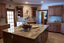 Kitchen Granite Countertops Kitchen Granite Countertop On L Shaped Kitchen Cabinets Fit With