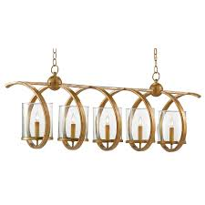 currey and pany 9000 0054 maximus 5 light rectangular chandelier in washed gold leaf
