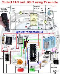 Fan And Light Remote Control Circuit Control Fan And Light Using Tv Remote Electronic Circuit