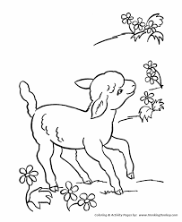 Small Picture Farm Animal Coloring Pages Printable Lamb Sheep Coloring Page
