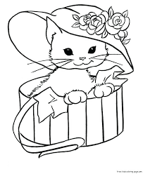 Kitty Cat Coloring Page Cute Kittens Drawing At Of Cute Kittens