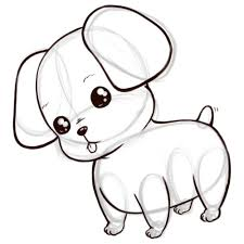 cute puppy drawing. Exellent Cute How To Draw A Cute Anime Cartoon Puppy 8 Steps With Pictures And Puppy Drawing L