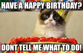 grumpy cat i had a birthday once. Exellent Grumpy To Grumpy Cat I Had A Birthday Once C