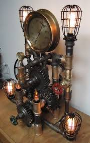 steampunk lighting fixtures. steampunk lamp light industrial art machine age by pipelightart lighting fixtures