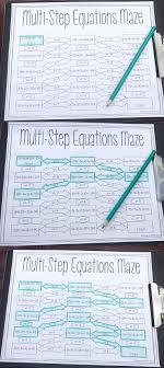 solving multi step equations maze