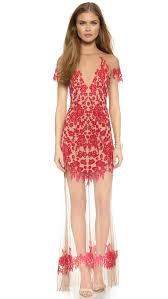 For love lemons Luau Maxi Dress Red nude in Red Lyst