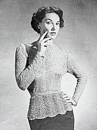 Vintage Knitting Patterns Impressive 48s Vintage Knitting Crochet Pattern Lacey Over Blouse Image48 В