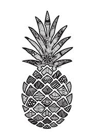 pineapple drawing. pineapple print by cassidydesigns1 on etsy drawing