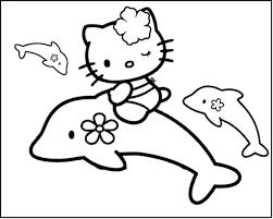 20 Beste Kleurplaat Dolfijn Hello Kitty Win Charles