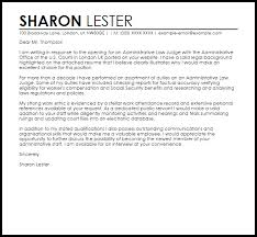 Administrative Law Judge Cover Letter Sample Cover Letter
