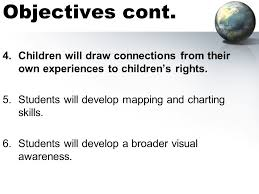 sims charting around the world exploring childrens rights ed 200 curriculum