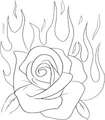 rose coloring pages printable of roses and hearts valentine colo