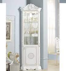 classic italian corner display cabinet