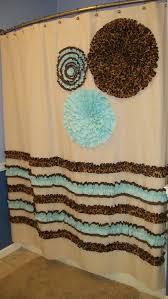 blue and brown shower curtain fabric. shower curtain custom made designer fabric ruffles flowers cheetah leopard chocolate brown aqua osnaburg teal natural blue and