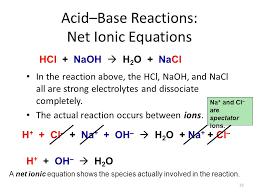 acid base reactions net ionic equations