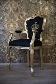 Pompöös By Casa Padrino Luxus Barock Esszimmerstuhl Mit Armlehnen Schwarz Gold Pompööser Barock Stuhl Designed By Harald Glööckler