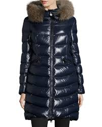 Moncler Shiny Quilted Down Coat w/Fox Fur Hood &  Adamdwight.com