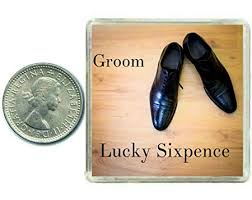 oaktree gifts lucky wedding sixpence coin for the groom traditional idea for the grooms shoe