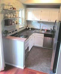 ... Kitchen Design, Amusing White Rectangle Unique Wooden Tiny Kitchen  Ideas Stained Ideas: Awesome Tiny ...