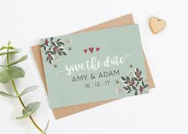 Winter Blossom Berries Gem Folded Save The Date Norma Dorothy