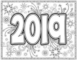 New Year 2019 Coloring Pages For Teens And Adults Adult Coloring