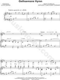 gethsemane sheet music