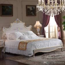 2018 High End Classic Furniture Bedroom Baroque Style Queen Bed