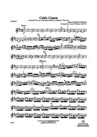 pachelbel canon violin sheet music celtic canon 1st violin johann pachelbel digital sheet music