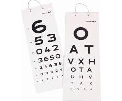 Keeler 3 Metre Vision Eye Test Card Chart