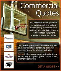 Commercial Quotes Adorable Commercial Quotes For Basketball Hoops And Goals Best Prices