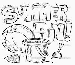 Small Picture Free Printable Coloring Pages For Summer coloring page