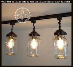jar lighting. a mason jar track light of 3 vintage quarts the lamp goods lighting m