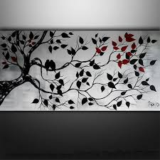 abstract painting birds painting