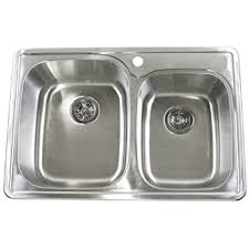 AS111 33Stainless Steel Double Kitchen Sink